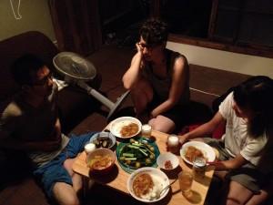フランス人と夕食を