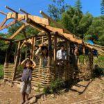 木や竹を使った家づくりイベント 土壁つくり編