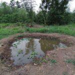 池づくり ~掘ったら水が湧いてきた!~