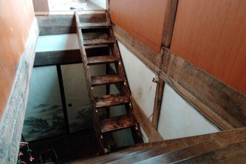 ビヨンド自然塾拠点施設の改修32 ~階段作り~